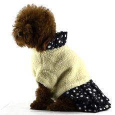 Jacke mit Rock für Hunde - schwarzweiß, XL