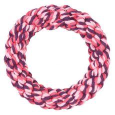 Baumwollring für Hunde, pink - 14 cm