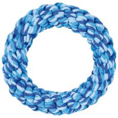 Baumwollring für Hunde, blau - 14 cm
