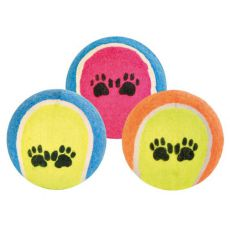 Tennisball für Hunde - bunt, 6 cm
