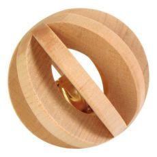 Spielzeug für Hase - Kugel aus Holz mit der Zymbel, 6 cm