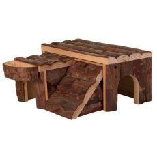 Häuschen für Nager - aus Holz, 14 x 7 x 14 cm