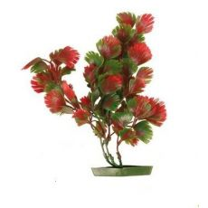 Aquariumpflanze aus Kunststoff - rotgrüne Blätter, 17 cm