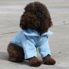 Hundejacke mit Reißverschluss - blau, M