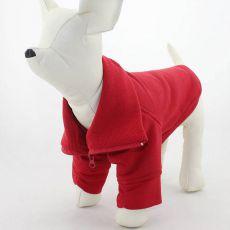 Hundejacke mit Reißverschluss - rot, M