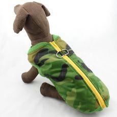 Jacke für große Hunde - Camouflage, elastisch, L-XS
