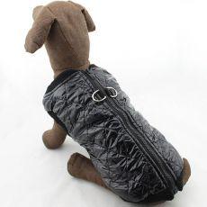 Weste für große Hunde - glänzend, schwarz, L-XS