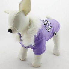 Kapuzenjacke für Hunde - lila, XL