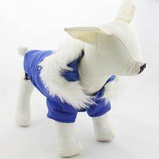 Kapuzenjacke für Hunde - blau, S