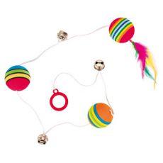 Spielzeug für Katzen - Bällchen und Klappern auf dem Schnürchen