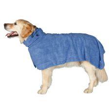 Bademantel für Hunde - blau, 60cm