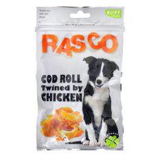 Snack RASCO - Dorsch eingerollt in Hühnerfleisch, 80g