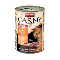 Futter CARNY ADULT Rindfleisch + Hühnerfleisch - 400 g