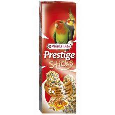 Kräcker für Nymphensittiche PRESTIGE STICKS 2 Stck - Nüsse und Honig, 140g