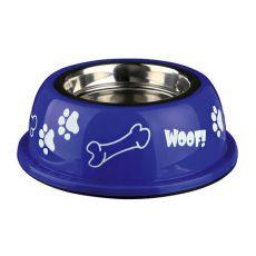 Hundenapf mit Kunststoffmantel, blau - 0,9 L