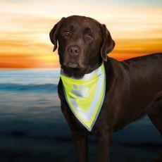 Reflektierendes Halstuch für Hunde mit Muster - Größe XS-S