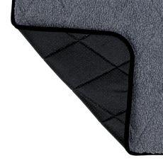Thermo Liegedecke für Hunde, grau - 80x60cm