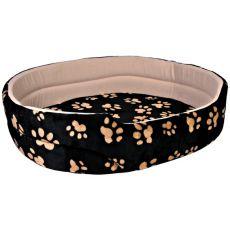 Bett Charly für Hunde und Katzen, schwarz-beige - 50x43cm