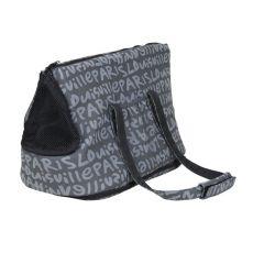 Tasche für Hunde oder Katzen Yasmin, grau mit Druck - 25×30×45cm