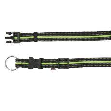 Nylon Hundehalsband - grünschwarz, S-M