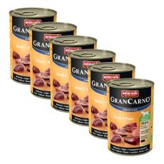 Dose GranCarno Fleisch Adult Rind + Pute - 6 x 400g