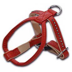 Hundegeschirr mit Steinchen, rot - 1,5x25x30cm