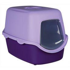 Toilette für Katzen mit einem Türchen und Halter - violet