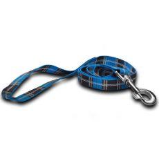 Nylonleine für Hunde - kariert, blau 2 x 120 cm