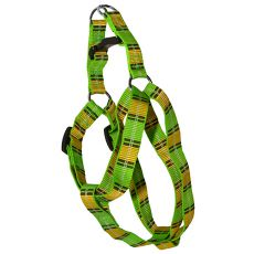 Geschirr für den Hund - Karo-Muster, grün-gelb M 2 x 40-60 cm