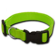 Halsband für den Hund - neon-grün - 1,6 x 25-39 cm