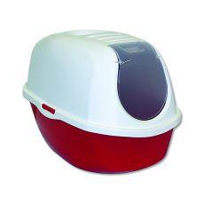 Toilette für Katzen mit einem Deckel MAGIC CAT, rot - 39x53x41cm
