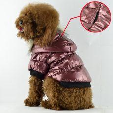 Daunenjacke für Hunde - bordorot, XS