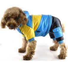 Hundejacke - gelb-blau, XS
