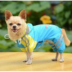 Regenmantel für Hunde, Motiv Mädchen - blau, S