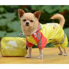 Regenmantel für Hunde, Motiv Mädchen - gelb, M