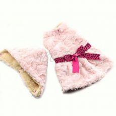 Pullover für Hunde - rosa mit Kapuze und Schleife - XXL