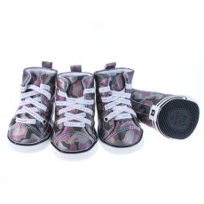 Schuhe für Hunde - Camouflage, lila, L