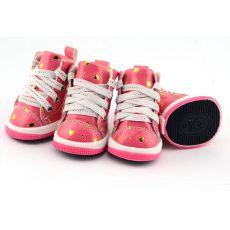Hunde Sneakers - pink mit Herzchen, L