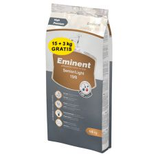 EMINENT Senior Light 15 + 3 kg GRATIS