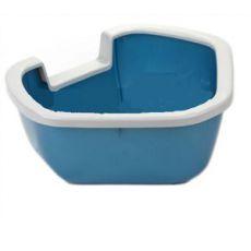 Eckige Toilette für Katzen DAMA - blau - 57,5 x 51,5 x 22 cm