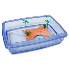 Schildkrötenbecken - blau - 43,5 x 34 x 11 cm