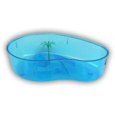 Blaues Schildkrötenterrarium mit Palme