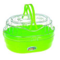 Tragebox für kleine Tiere JUMBO, grün 22x17x14cm