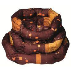 Schlafplatz für Hunde - oval, braun, 55x45x20 cm