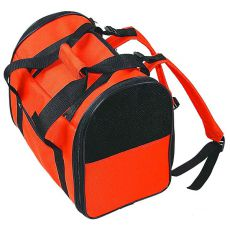 Tragetasche für Hunde und Katzen, orange-schwarz  36 cm