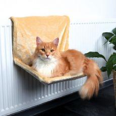 Radiator Katzenbett, beiger Plüsch – 48x26x30cm
