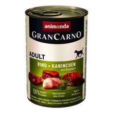 Dose GranCarno Fleisch Adult Kaninchen + Kräuter - 400 g