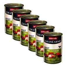 Dose GranCarno Fleisch Adult Kaninchen + Kräuter - 6 x 400 g