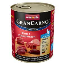 Dose GranCarno Fleisch Junior Rind+Putenherzen - 800g