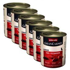 Dose GranCarno Fleisch Junior Rind+Putenherzen-6x800g